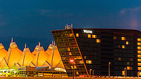 Jeppesen Terminal and Westin Denver International Airport Hotel, Denver, Colorado USA.