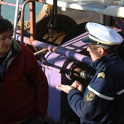 Activités de contrôle des pêches par la gendarmerie maritime de Dieppe.