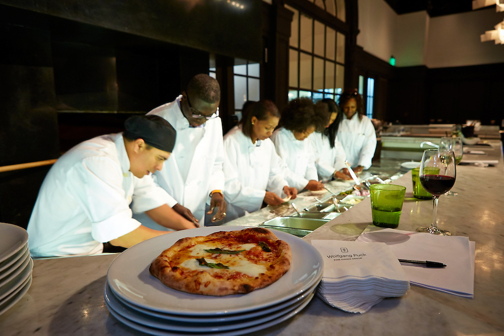 AT&T Summit 2015 fun day , cooking demo at Wolfgang Puck's Lupo's .