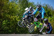 #566 (OQUENDO ZABALA Carlos Mario) COL at Round 4 of the 2018 UCI BMX Superscross World Cup in Papendal, The Netherlands