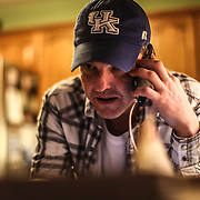 """Recovering opioid addict Neal Catlett, of Lexington, Kentucky, fields calls from other addicts who may need to take part of a """"healing ceremony""""  in Lexington on Monday, December 11, 2017. Catlett, who wants to start a church using the substance, as well as a growing contingent of users believe the venom can help with reducing and ultimately overcoming many forms of addiction."""
