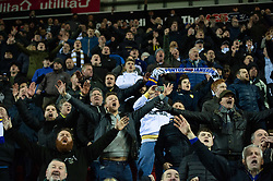 January 26, 2019 - Rotherham, England, United Kingdom - Leeds fans celebrate winning the Sky Bet Championship match between Rotherham United and Leeds United at the New York Stadium, Rotherham on Saturday 26th January 2019. (Credit Image: © Mark Fletcher/NurPhoto via ZUMA Press)