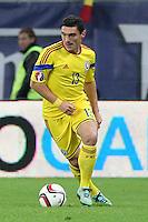 ROMANIA, Bucharest : Romania's Claudiu Keseru during the Euro 2016 Group F qualifying football match Romania vs Northern Ireland in Bucharest, Romania on November 14, 2014.