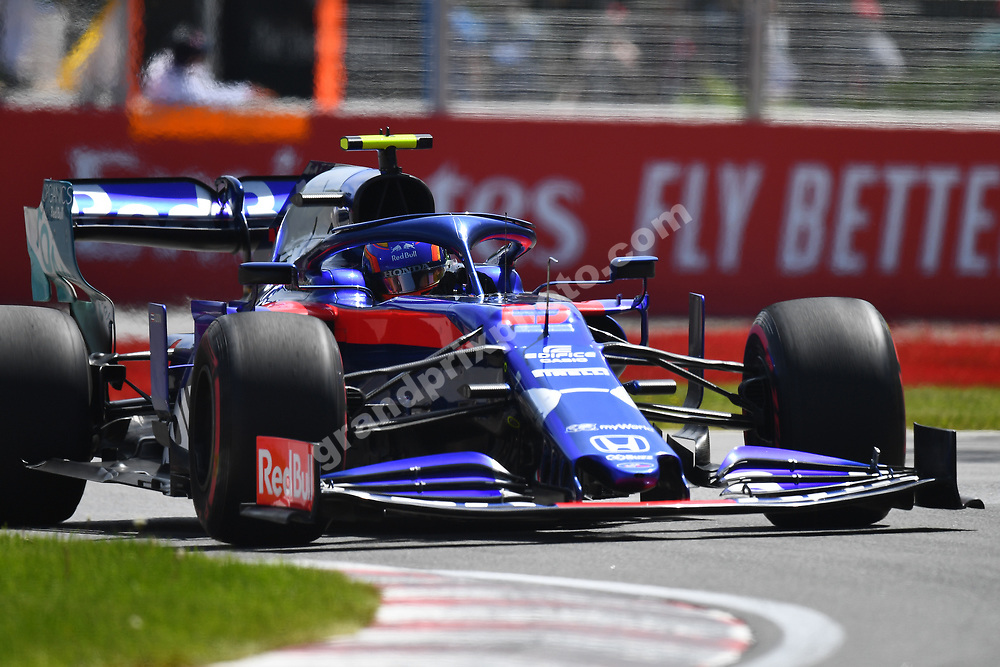 Alexander Albon (Toro Rosso-Honda) during practice for the 2019 Canadian Grand Prix in Montreal. Photo: Grand Prix Photo