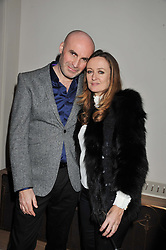 JASON BROOKS and LUCY YEOMANS at a private dinner hosted by Lucy Yeomans in honour of Jason Brooks at The Cafe Royal, Regent Street, London on 13th February 2013.