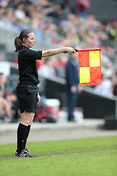 assistant referee Lindsey Robinson  - Photo mandatory by-line: Nigel Pitts-Drake/JMP - Tel: Mobile: 07966 386802 01/06/2014 - SPORT - FOOTBALL - LADIES - Stadium mk - Milton Keynes - Arsenal Ladies v Everton Ladies - The FA Women's Cup Final