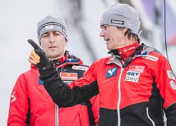16.02.2020, Kulm, Bad Mitterndorf, AUT, FIS Ski Flug Weltcup, Kulm, Herren, im Bild v.l. Sportdirektor Ski Nordisch Mario Stecher (AUT), Cheftrainer Andreas Felder (AUT), // f.l. Sport Director Ski Nordic Mario Stecher and Headcoach Andreas Felder of Austria during the men's FIS Ski Flying World Cup at the Kulm in Bad Mitterndorf, Austria on 2020/02/16. EXPA Pictures © 2020, PhotoCredit: EXPA/ JFK