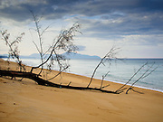 26 DECEMBER 2014 - MAE KHAO, PHUKET, THAILAND: The beach in Mae Khao on the Andaman Sea in Phuket, Thailand. Nearly 5400 people died on Thailand's Andaman during the 2004 Indian Ocean Tsunami that was spawned by an undersea earthquake off the Indonesian coast on Dec 26, 2004. In Thailand, many of the dead were tourists from Europe. More than 250,000 people were killed throughout the region, from Thailand to Kenya. There are memorial services across the Thai Andaman coast this weekend.    PHOTO BY JACK KURTZ