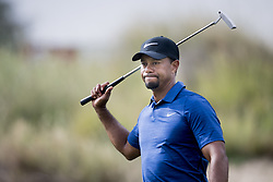 February 2, 2017 - Dubai, UAE  - TIGER WOODS of the USA in action during day 1 of the Dubai Desert Classic.  (Credit Image: © Ludvig Thunman/Bildbyran via ZUMA Wire)