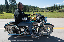 On the Harley-Davidson Angels Ride to benefit the Nature Conservancy during the annual Sturgis Black Hills Motorcycle Rally.  SD, USA.  August 12, 2016.  Photography ©2016 Michael Lichter.