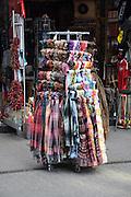 Eastern Europe, Hungary, Budapest, outdoor street market tourist souvenir shop
