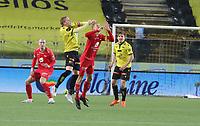 Fotball , 9. desember 2020 , Eliteserien , Srart - Brann <br /> Eirik Schulze , Start<br /> Kristoffer Barmen   , Brann