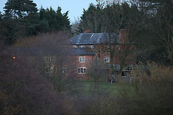 A general view of buildings on the site of Bank House, Cholmondeley, Malpas.