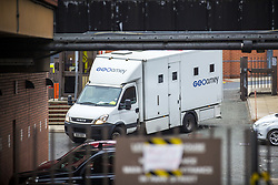 October 5, 2018 - Leeds, Yorkshire, UK - Leeds UK. A prison van arrives at Leeds Crown Court this morning where Shahid Mohammed will appear today. Shahid Mohammed has been extradited from Pakistan where he was arrested three years ago. He has been charged with eight counts of murder & one count of conspiracy to commit arson with intent to endanger life. The charges relate to the deaths of five sisters, their mother, uncle & grandmother on May 12, 2002 in Birkby, Huddersfield. Nafeesa Aziz, 35, and her five daughters - Tayyaba Batool age 3, Rabiah Batool age 10, Ateeqa Nawaz age 5, Aneesa Nawaz age 2, and Najeeba Nawaz age six-months-old - were killed in the fire. The children's uncle Mohammed Ateeq-ur-Rehman, 18, also died in the fire and their grandmother, Zaib-un-Nisa, 54, died a week later in hospital after jumping from an upstairs window. (Credit Image: © Andrew Mccaren/London News Pictures via ZUMA Wire)