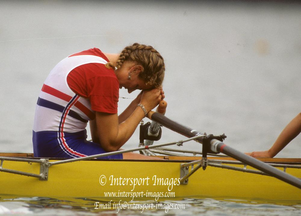 Bled, Slovenia, YUGOSLAVIA. 1989 World Rowing Championships, Lake Bled. [Mandatory Credit. Peter Spurrier/Intersport Images]