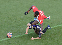 West Ham's Mark Noble fouls Bristol City's Jay Emmanuel-Thomas - Photo mandatory by-line: Alex James/JMP - Mobile: 07966 386802 - 25/01/2015 - SPORT - Football - Bristol - Ashton Gate - Bristol City v West Ham United - FA Cup Fourth Round