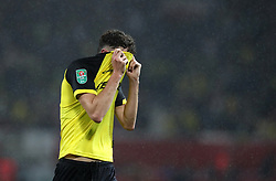 Burton Albion's Tom Flanagan reacts during the Carabao Cup, Third Round match at Old Trafford, Manchester.