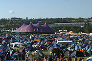 Mandatory Credit: Photo by STEVE MEDDLE / Rex Features<br /> GLASTONBURY FESTIVAL<br /> GLASTONBURY FESTIVAL DAY 1, BRITAIN - 27 JUN 2003<br /> <br /> CAMPING TENT TENTS