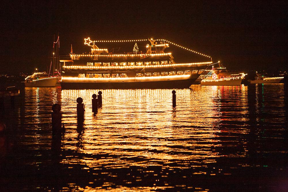 North America, United States, Washington, Bellevue, annual Christmas Ship Parade