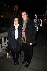 ANGUS DEAYTON and LISE MAYER at a Winter Party given by Tiffany & Co. Europe to launch the 10th season of Somerset House's Ice Skating Rink at Somerset House, The  Strand, London on 16th November 2009.