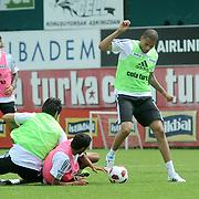 Besiktas's new Portuguese forward Bebe (Tiago Manuel Dias Correia) (2ndR) during their new season training at BJK Nevzat Demir training center in Istanbul, Turkey, 30 June 2011. Photo by TURKPIX
