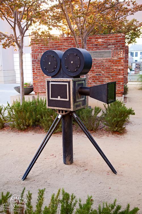 """Panoramic"" sculpture by Barbara McCarren at Culver City Hall, Culver Boulevard, Culver City, Los Angeles, California, USA"
