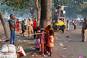 Hindu devotees are leaving the yearly Sonepur Mela, Asia's largest cattle market, in Bihar, India.