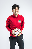 **EXCLUSIVE**Portrait of Chinese soccer player Chen Hao of Henan Jianye F.C. for the 2018 Chinese Football Association Super League, in Zhengzhou city, central China's Henan province, 21 February 2018.