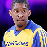 11 April 2014: Golden State Warriors guard Jordan Crawford (55) warms up prior to the Golden State Warriors 112-95 victory over the Los Angeles Lakers at the Staples Center, Los Angeles, California, USA.