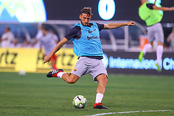 August 7, 2018 - East Rutherford, NJ, U.S. - EAST RUTHERFORD, NJ - AUGUST 07:  Roma midfielder Bryan Cristante (4) warms up prior to the International Champions Cup game between Real Madrid and AS Roma on August 7, 2018, at Met Life Stadium in East Rutherford, NJ.  (Photo by Rich Graessle/Icon Sportswire) (Credit Image: © Rich Graessle/Icon SMI via ZUMA Press)