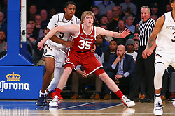 December 4, 2018 - New York, NY, U.S. - NEW YORK, NY - DECEMBER 04:   Oklahoma Sooners forward Brady Manek (35) during the College Basketball Game between the Notre Dame Fighting Irish and the Oklahoma Sooners on December 4, 2018 at Madison Square Garden in New York, NY.(Photo by Rich Graessle/Icon Sportswire) (Credit Image: © Rich Graessle/Icon SMI via ZUMA Press)