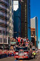 Kickers Brandon McManus (l) and Britton Colquitt (r), Denver Broncos Super Bowl 50 Victory Parade, Downtown Denver, Colorado USA.