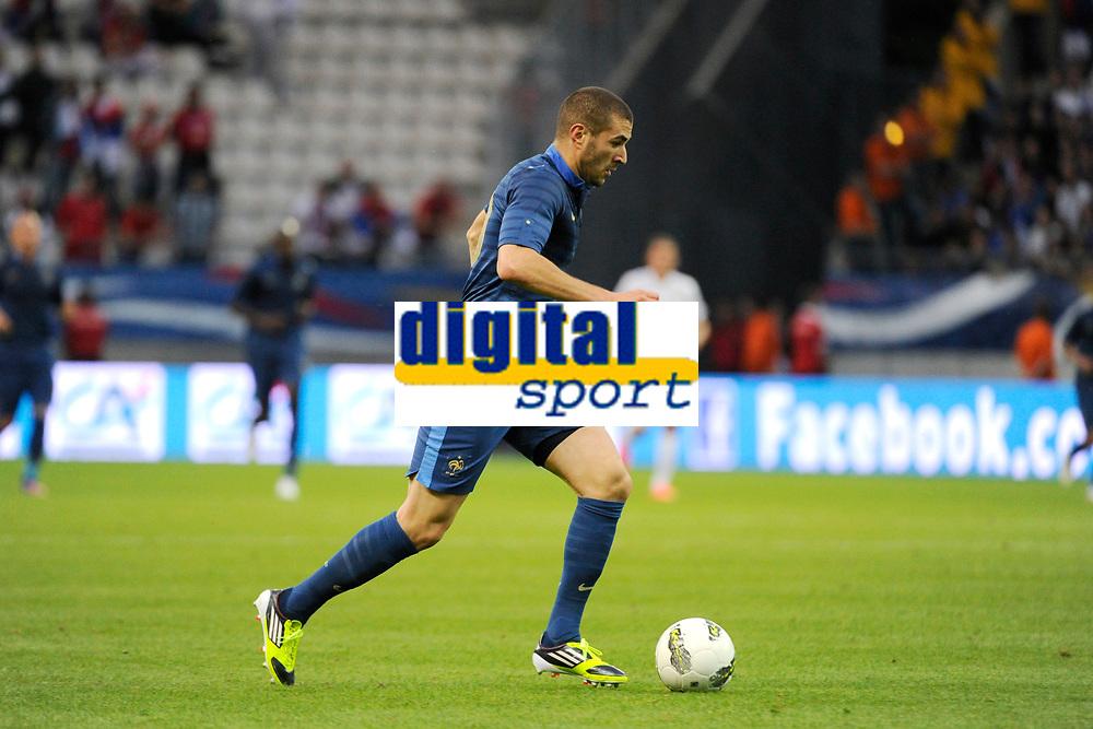 FOOTBALL - FRIENDLY GAME 2012 - FRANCE v SERBIA - REIMS (FRANCE) - 31/05/2012 - PHOTO JEAN MARIE HERVIO / REGAMEDIA / DPPI - KARIM BENZEMA (FRA)