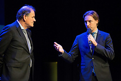 Marko Umberger and Miha Rakar at Slovenian Tennis personality of the year 2016 annual awards presented by Slovene Tennis Association Tenis Slovenija, on December 7, 2016 in Siti Teater, Ljubljana, Slovenia. Photo by Vid Ponikvar / Sportida