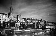 01/02/1957<br /> 02/01/1957<br /> 01 February 1957<br /> Cobh, Co. Cork. The quayside and St Colman's Cathedral.