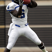 Memphis wide receiver Billy Foster (6) warms up prior to an NCAA football game between the Memphis Tigers and the Central Florida Knights at Bright House Networks Stadium on Saturday, October 29, 2011 in Orlando, Florida. (AP Photo/Alex Menendez)