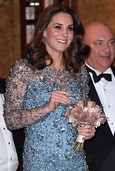 The Duke and Duchess of Cambridge attend the Royal Variety Performance at the Palladium Theatre, London, UK, on the 24th November 2017. 24 Nov 2017 Pictured: Catherine, Duchess of Cambridge, Kate Middleton. Photo credit: James Whatling / MEGA TheMegaAgency.com +1 888 505 6342