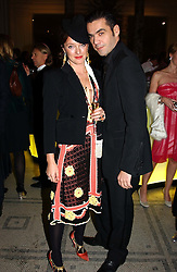Fasion designers ALICE TEMPERLEY and ROLAND MOURET  at the 2004 British Fashion Awards held at Thhe V&A museum, London on 2nd November 2004.<br />