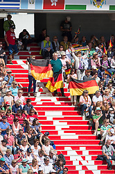 German supporters - Freestyle Grand Prix Dressage - Alltech FEI World Equestrian Games™ 2014 - Normandy, France.<br /> © Hippo Foto Team - Jon Stroud<br /> 25/06/14