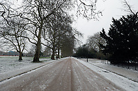 wintry weather battersea park London photo by Roger Alarcon