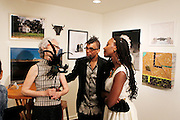 May 19, 2016-Brooklyn, NY: United States: (L-R) Artist Dread Scott and Multimedia Artist Duhirwe Rushemeza attends the 2nd Annual (Museum of Contemporary African Diasporic Art (MoCADA) Masquerade Ball held at the Brooklyn Academy of Music on May 19, 2016 in Brooklyn, New York. (Terrence Jennings/terrencejennngs.com)