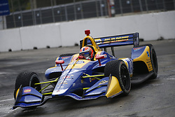 July 14, 2018 - Toronto, Ontario, Canada - ALEXANDER ROSSI (27) of the United States attempts to qualify in the rain for the Honda Indy Toronto at Streets of Toronto in Toronto, Ontario. (Credit Image: © Justin R. Noe Asp Inc/ASP via ZUMA Wire)