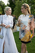 FIONA SCARRY; SARA BRAJOVIC, The Serpentine Summer Party 2013 hosted by Julia Peyton-Jones and L'Wren Scott.  Pavion designed by Japanese architect Sou Fujimoto. Serpentine Gallery. 26 June 2013. ,