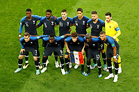 SAINT PETERSBURG, RUSSIA - JULY 10: France national team players pose for a photo during the 2018 FIFA World Cup Russia Semi Final match between France and Belgium at Saint Petersburg Stadium on July 10, 2018 in Saint Petersburg, Russia. MB Media