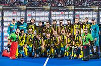BHUBANESWAR, INDIA - team Australia with bronze  , England v Australia (1-8) for the bronze medal during the Odisha World Cup Hockey for men  in the Kalinga Stadion.   COPYRIGHT KOEN SUYK
