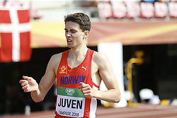 July 10, 2018 - Tampere, Suomi Finland - 180710 Friidrott, Junior-VM, Dag 1: Sondre Juven NOR competes in XXX during the IAAF World U20 Championships day 1 at the Ratina stadion 10. July 2018 in Tampere, Finland  (Credit Image: © Kalle Parkkinen/Bildbyran via ZUMA Press)