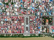 A view from above of Battambang, Cambodia.