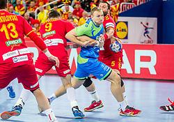 Ziga Mlakar of Slovenia during handball match between National teams of Slovenia and Macedonia on Day 2 in Preliminary Round of Men's EHF EURO 2018, on January 13, 2018 in Arena Zagreb, Zagreb, Croatia. Photo by Ziga Zupan / Sportida