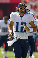 September 7, 2014: Tennessee Titans quarterback Charlie Whitehurst (12) during the NFL American Football Herren USA game between the Tennessee Titans and the Kansas City Chiefs at Arrowhead Stadium in Kansas City, Missouri. Tennessee defeated the Chiefs 26-10 NFL American Football Herren USA SEP 07 Titans at Chiefs PUBLICATIONxINxGERxSUIxAUTxHUNxRUSxSWExNORxONLY Icon140907246<br /> <br /> September 7 2014 Tennessee Titans Quarterback Charlie White Hurst 12 during The NFL American Football men USA Game between The Tennessee Titans and The Kansas City Chiefs AT Arrowhead Stage in Kansas City Missouri Tennessee defeated The Chiefs 26 10 NFL American Football men USA Sep 07 Titans AT Chiefs PUBLICATIONxINxGERxSUIxAUTxHUNxRUSxSWExNORxONLY