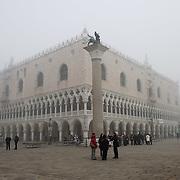 Fog shrouds Venice